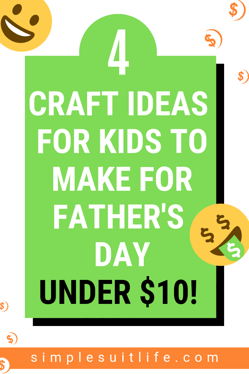 These are some popular and easy to make Father's Day DIY craft ideas: Homemade cards​, Candles, Coasters, Paper Weights, Sports themed crafts, Handprint crafts, Keychains, Photo Frames. These projects won't require tons of costly supplies and most items you might already have on hand!