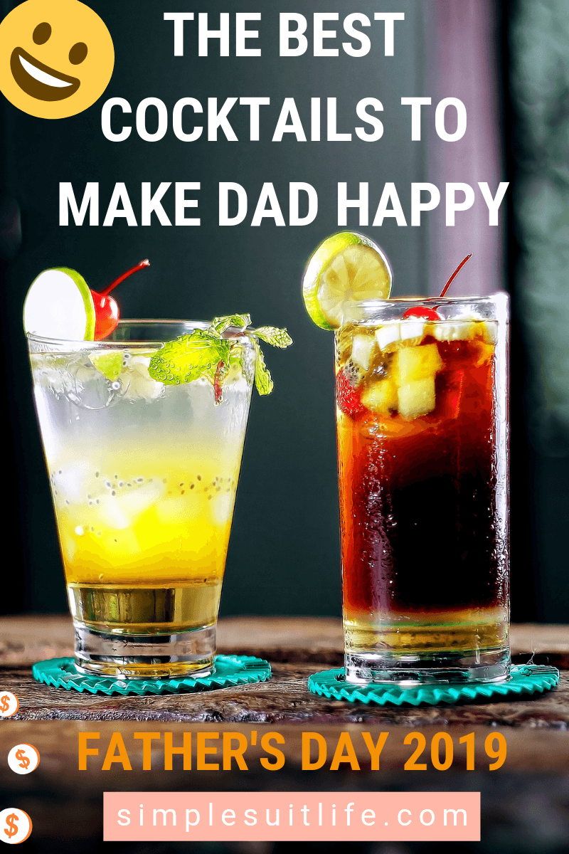 These are the best cocktai drink ideas that are perfect to serve for Father's Day. A favorite in my family is the long island tea, but you can never go wrong with a Tequila Sunrise! #Father'sDayFoodIdeas #PartyDrinkIdeas
