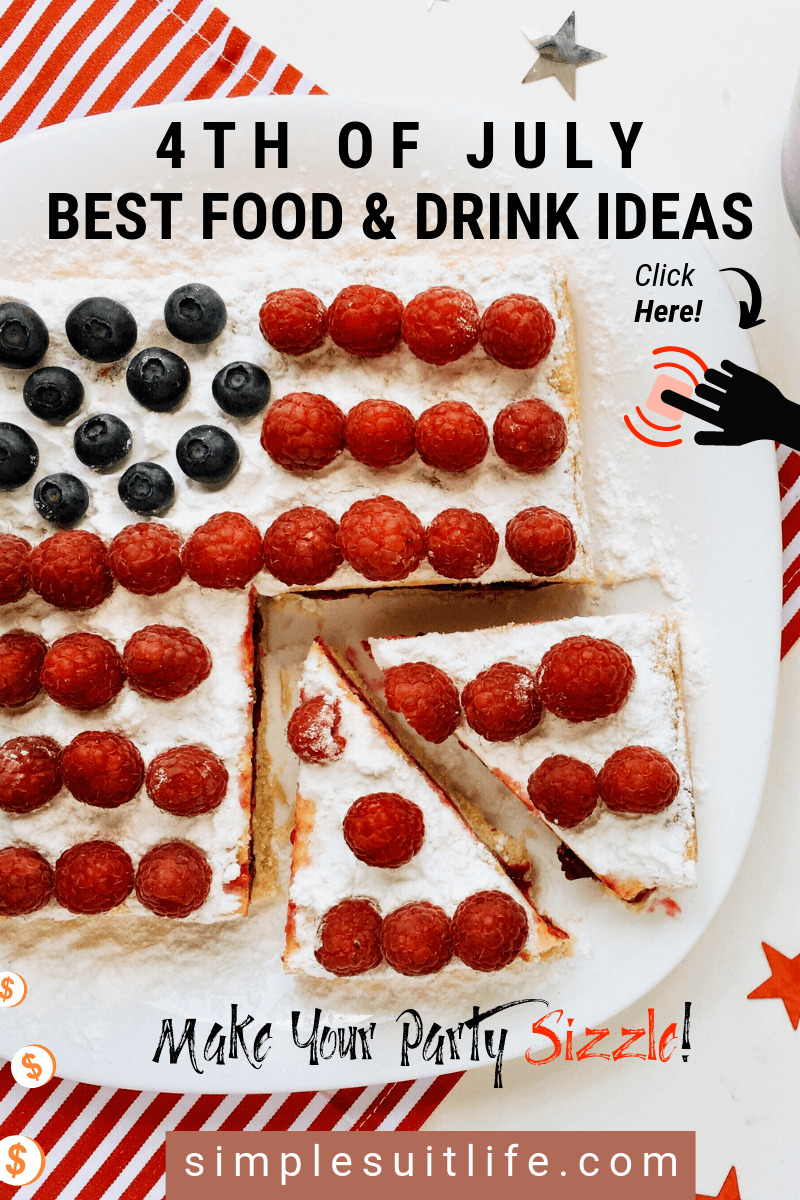 These are some of the best food and drink ideas I get excited about when I attend a 4th of July Party! They are simple, classic and are sure to go over well with your guests. Give them a try! #EasyPartyFood #4thOfJulyPartyIdeas #4thOfJulyDrinks