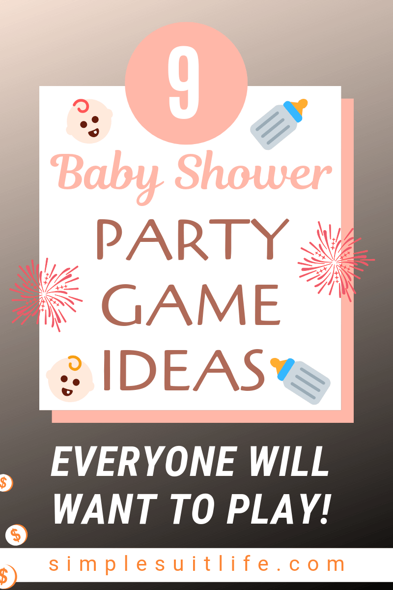 Baby showers are notorious for their fun and entertaining games. ​If you are hosting, it is important to choose games that are not overly complicated and time consuming. You want games which are easy to follow and don't require your full attention.Here are some fun ideas for baby shower party games! #BabyShowerGames #BabyShowerPartyGames