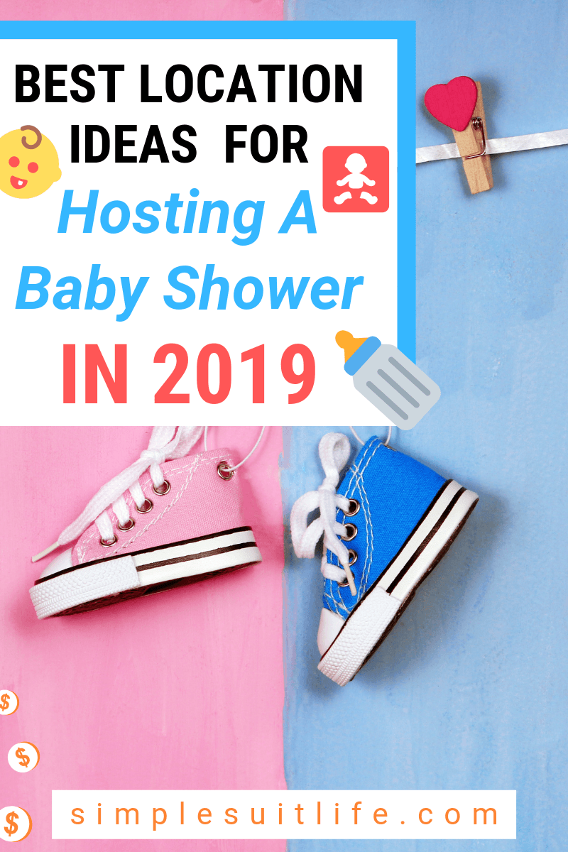 Choosing the location for the baby shower is one of the hardest decisions if you are hosting. You want to find a venue that's large enough for everyone, but not too big to lose the cozy atmosphere. And most importantly - OK with the parents and family who are attending! These are some practical locations to host a baby shower. #BabyShowerPartyIdeas #BabyShowerIdeas