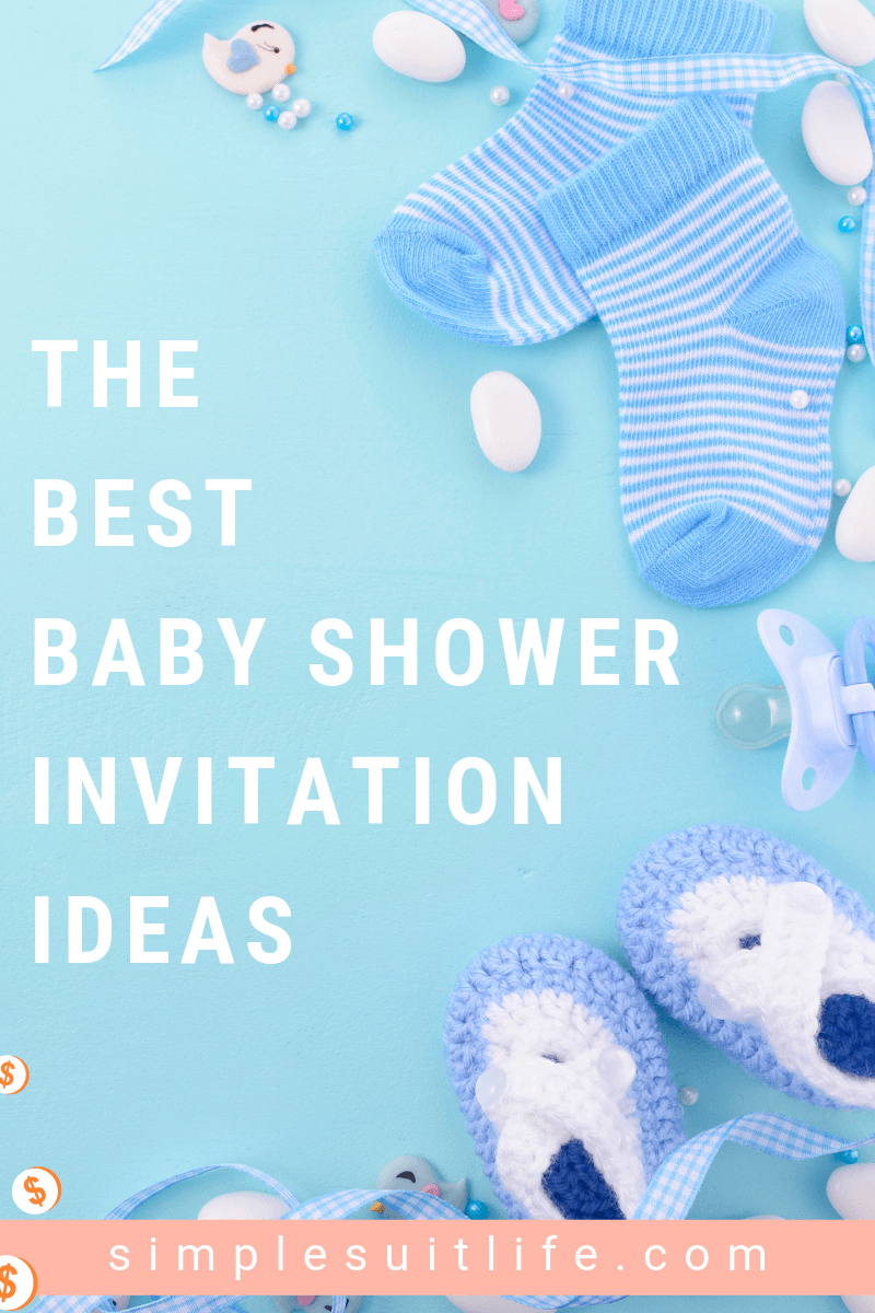 Baby shower invitations should be sent out four to six weeks before the baby shower. Since it is likely that some guests will have to travel, the extra time to setup accommodations will be appreciated. This will also give guests plenty of time to buy a gift so make sure to have the registry information included on the invite. Check out these great invitation ideas for hosting a baby shower! #BabyShowerInvitations #BabyShowerInvites